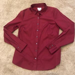 Red J Crew Button down.